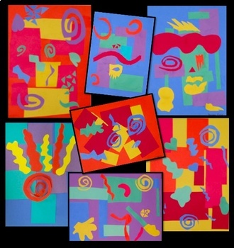 Art Lesson - Matisse-inspired Geometric Organic Collage