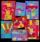 Art Lesson Matisse-inspired Geometric Organic Collage
