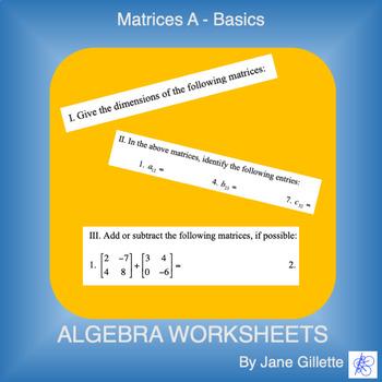 Matrices A - Basics