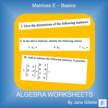 Matrices E