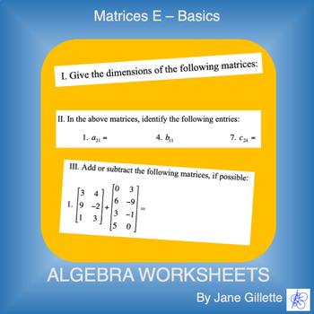 Matrices E - Basics
