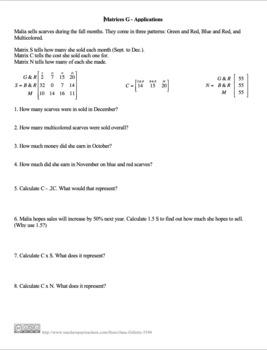 Matrices G
