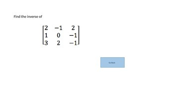 Matrices Review Game