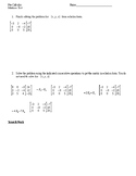 Matrices Test, Version A (With Answer Key)