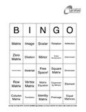 Matrices Vocabulary Bingo