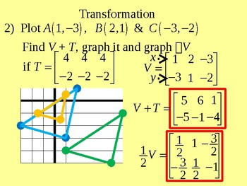 Matrices and Data Handling