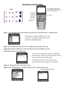 Matrices calculator step by step