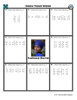 Matrix Algebra -- Algebra 2 Curriculum Unit Bundle -- All You Need