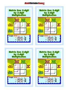 Matrix Box 2-digit by 2-digit Multiplication {Poster/Anchor Chart}