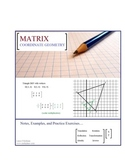 Matrix Coordinate Geometry Notes and Exercises
