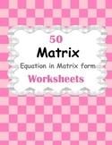 Matrix: Equation in Matrix form