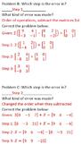 Matrix Equations Spot the Error Activity Discrete Math NC