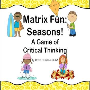 Matrix Fun: Seasons!  A Critical Thinking Game