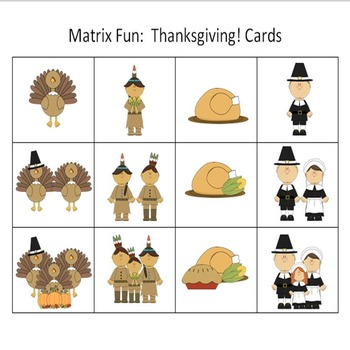 Matrix Fun: Thanksgiving! A Game of Prepositions and Critical Thinking Game