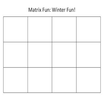 Matrix Fun: Winter Fun!  A Critical Thinking Game