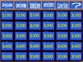 Matrix Jeopardy Review Game Matrices