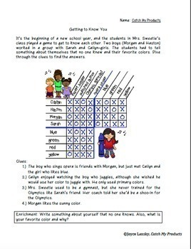 Logic Puzzle for Beginning of the School Year