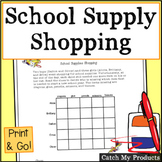 Matrix Logic Problem About School Supplies for Gifted or B