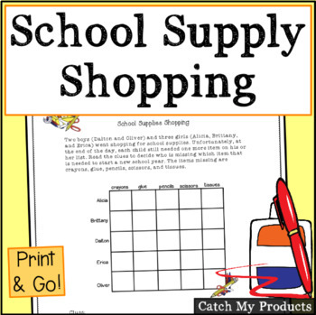 Logic Puzzle About School Supplies for Gifted and Talented