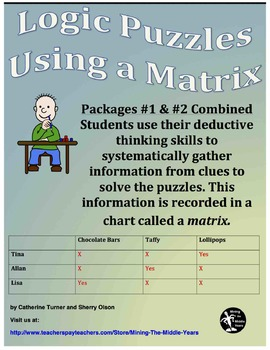 Matrix Logic Puzzles Bundle – Packages #1 and #2