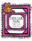Matrix Logic for Beginners - Family Theme