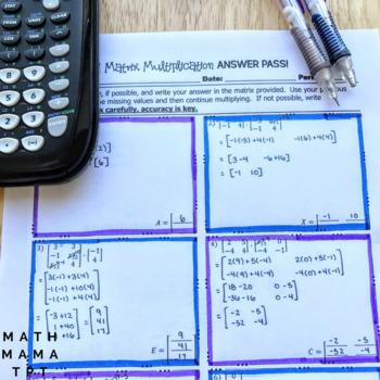Matrix Multiplication Answer Pass