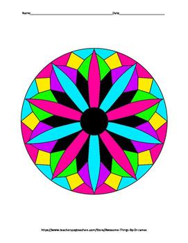 Matrix Multiplication Color by Number
