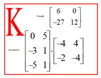 Matrix Multiplication Scavenger Hunt