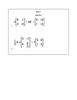 Matrix Multiplication Stations