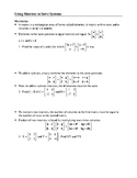 Matrix Operations & Solving Linear Systems Using Matrices
