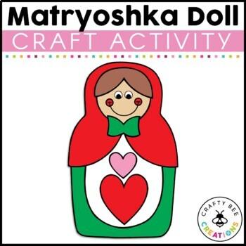 Matryoshka Doll Cut and Paste