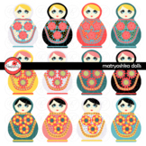 Matryoshka Dolls Clipart by Poppydreamz Russian Nesting Kukla Dolls