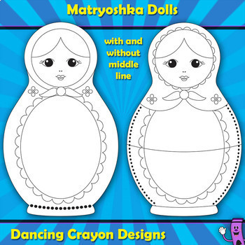 Matryoshka Dolls: Russian Nesting Dolls - Frames, Clip Art, and Puzzle Cards