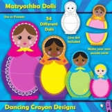Matryoshka Dolls: Russian Nesting Dolls - Frames, Clip Art, and Puzzle Cards