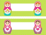 Matryoshka Russian Doll Nametag Labels