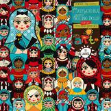 Matryoshka Russian Nesting Dolls Clip Art