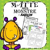 Matte med Monstre! Addisjon Arbeidsark Nivå 1