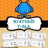 Matte med Monstre! Mysterie tall - Multiplikasjon Oppgavekort