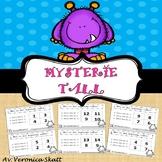 Matte med Monstre! Mysterie tall - Subtraksjon Oppgavekort