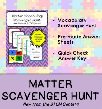 Matter Vocabulary Scavenger Hunt Game