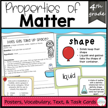 Properties of Matter and Physical Changes Task Cards