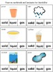 Matter Science Activities Second Grade Posters Printables Worksheet Sorting Game
