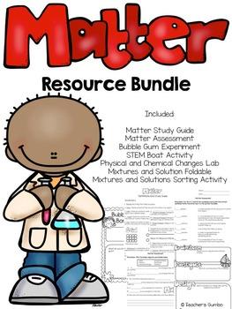 Matter Activity and Assessment Bundle