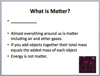 Matter - An Introduction - Elementary Science Lesson