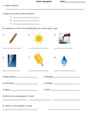 Matter Assessment (Solid, Liquid, and Gas)