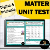 Matter Atoms Periodic Table of Elements Editable Test | Distance Learning