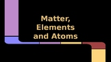 Matter, Atoms, and Elements