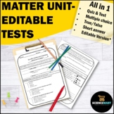 Matter Atoms and Periodic Table Tests | Matter Unit | Physical Science