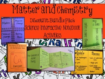 Matter and Chemistry Interactive Notebook BUNDLE