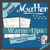 Matter BellWork/Warm-Ups
